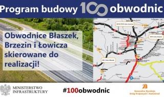 Resort infrastruktury zatwierdził program inwestycji dla obwodnic: Błaszek, Brzezin i Łowicza