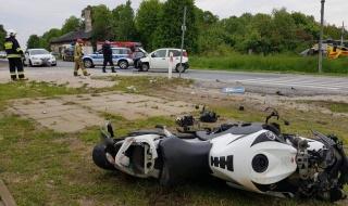 Wypadek na DK91 w Lućmierzu. Na miejscu LPR, utrudnienia w ruchu