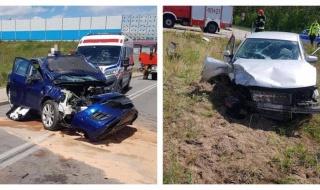 Groźny wypadek w Dmosinie, kilka osób poszkodowanych